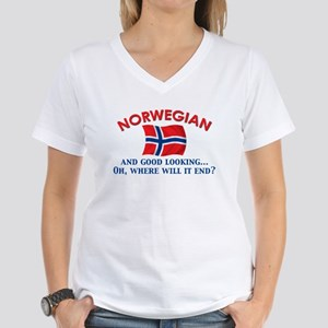 Good Lkg Norwegian 2 Women's V-Neck T-Shirt