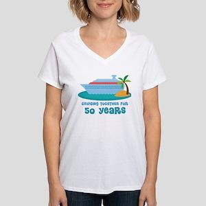 50th Anniversary Cruise Women's V-Neck T-Shirt