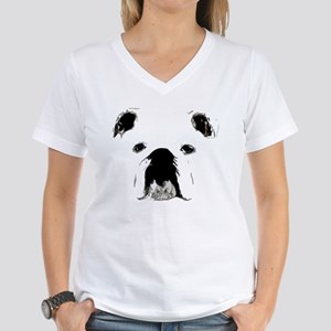 Bulldog Bacchanalia Women's V-Neck T-Shirt