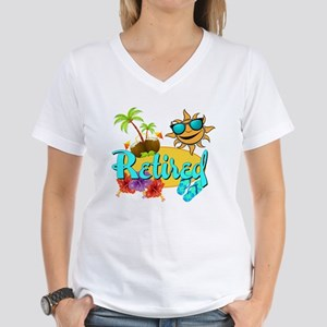 Retired Beach Women's V-Neck T-Shirt
