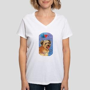 Pyrenean Shepherd Women's V-Neck T-Shirt