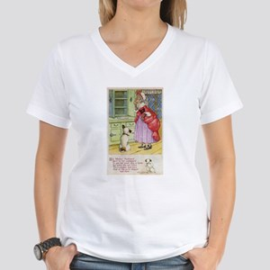 Old Mother Hubbard, #1 Women's V-Neck T-Shirt