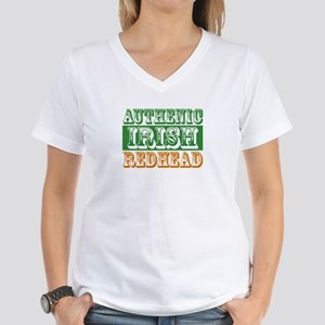 Authentic Irish Redhead Women's V-Neck T-Shirt