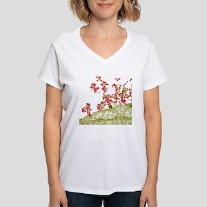 Influenza viruses, TEM Women's V-Neck T-Shirt