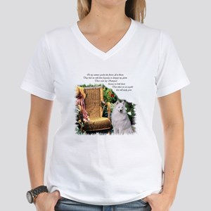 Samoyed Art Women's V-Neck T-Shirt