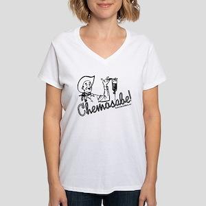 Chemosabe! Women's V-Neck T-Shirt