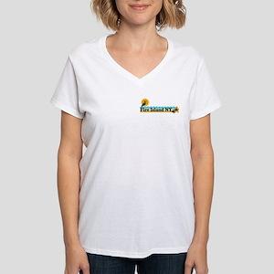 Fire Island - Beach Design Women's V-Neck T-Shirt