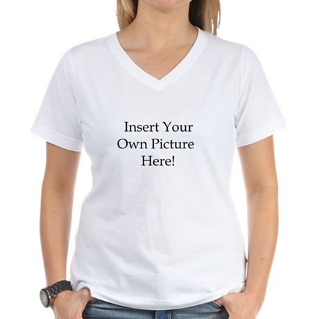 Upload your own picture Women's V-Neck T-Shirt