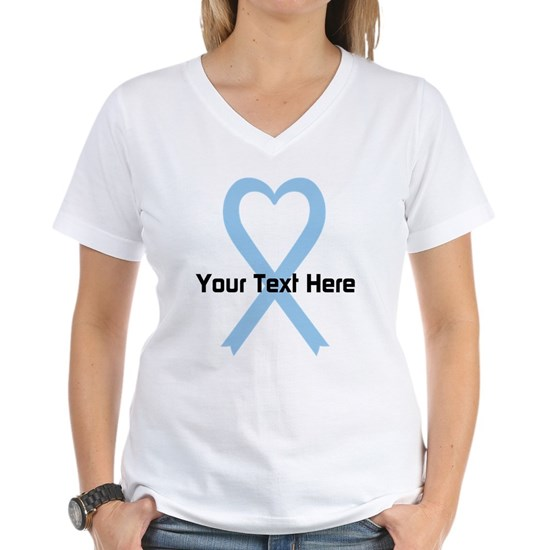 Personalized Light Blue Ribbon Heart
