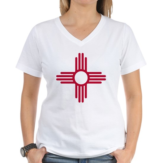 Red Zia NM State Flag Desgin