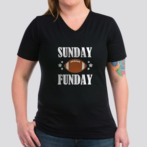 Sunday Funday funny football shirt for wom T-Shirt