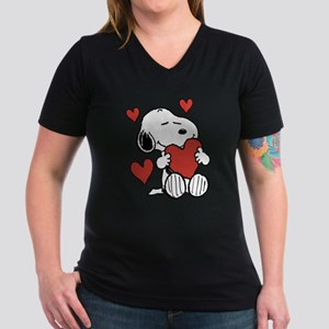Snoopy Valentine's Day Women's V-Neck T-Shirt