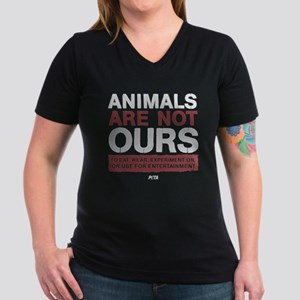 6448c683c Animals Are Not Ours Women's V-Neck Dark T-Shirt