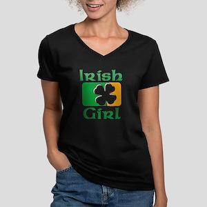 Irish Girl Women's V-Neck Dark T-Shirt