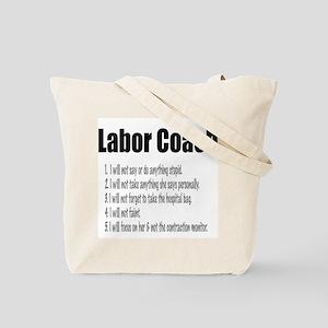Labor Coach Canvas Hospital Bag