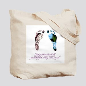 Pink & Blue Feet Tote Bag