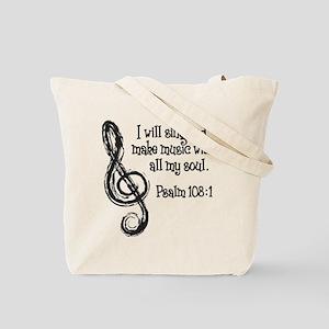PSALM 108:1 Tote Bag