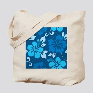 Shades of blue Hawaiian hibiscus Tote Bag