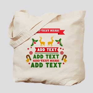 personalized add Text Christmas Tote Bag