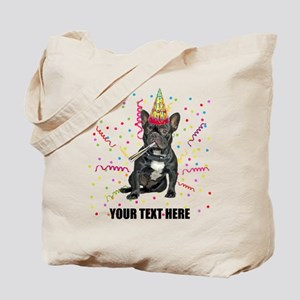 Custom French Bulldog Birthday Tote Bag