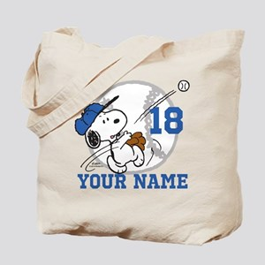 Snoopy Baseball - Personalized Tote Bag