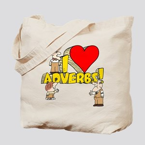 I Heart Adverbs Tote Bag