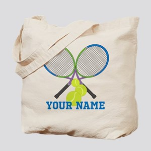 Personalized Tennis Player Tote Bag