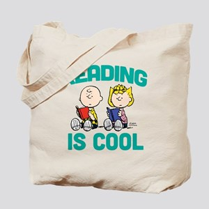 Charlie & Sally Brown-Reading is Cool Tote Bag