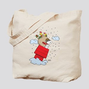 Flying Ace Santa Tote Bag