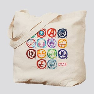 Marvel All Splatter Icons Tote Bag