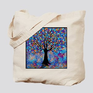 Colorful Tree of Life Art Print Tote Bag