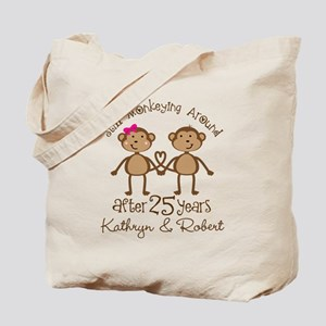 25th Anniversary Funny Personalized Gift Tote Bag