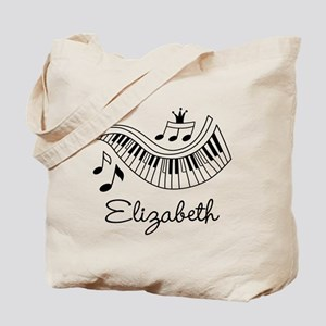 Piano Music Lover Personalized Tote Bag