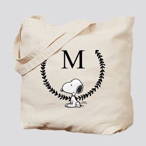 Snoopy Leaf Monogram Tote Bag