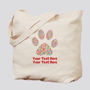 Dog Paw Print Customize Tote Bag