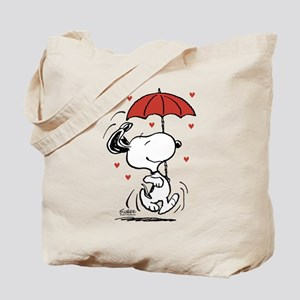 Snoopy on Heart Tote Bag