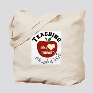 Personalize teaching: work of heart Tote Bag