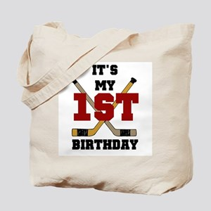 Hockey 1st Birthday Tote Bag