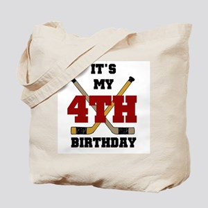 Hockey 4th Birthday Tote Bag