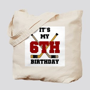 Hockey 6th Birthday Tote Bag