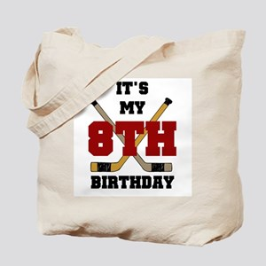 Hockey 8th Birthday Tote Bag