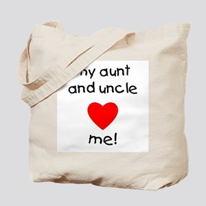 My aunt & uncle love me Tote Bag