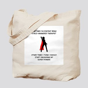 Superheroine Therapist Tote Bag