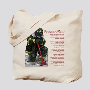 Firefighter Prayer Tote Bag