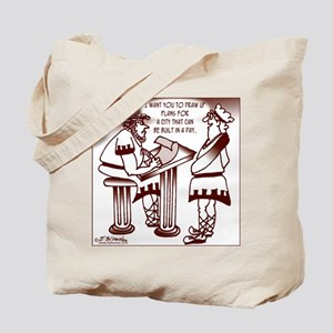 Ancient Roman Urban Planning Tote Bag
