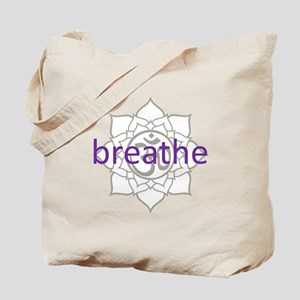 breathe Om Lotus Blossom Tote Bag