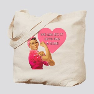 Rosie the Riveter Breast Cancer Tote Bag