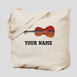 Personalized Violin Tote Bag
