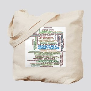 Proud History Teacher Tote Bag