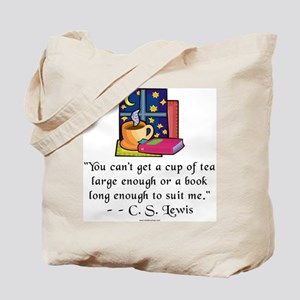 Tea & Books w Quote Tote Bag